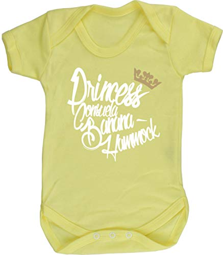 Hippowarehouse Princess Consuela Banana Hammock Baby Vest Bodysuit (Short Sleeve) Boys Girls Yellow