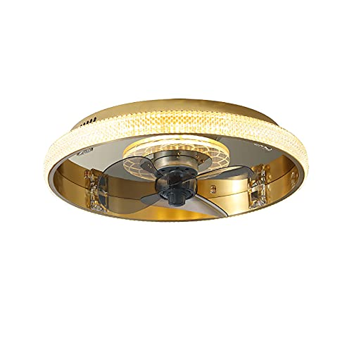 Ventilador De Techo Con Iluminación, Luz LED Para Ventilador De Techo Regulable, Con Control Remoto, Velocidad Del Viento Ajustable, Diámetro 46 Cm, 3200K-6500K, Adecuado Para Sala De Estar, Cocina