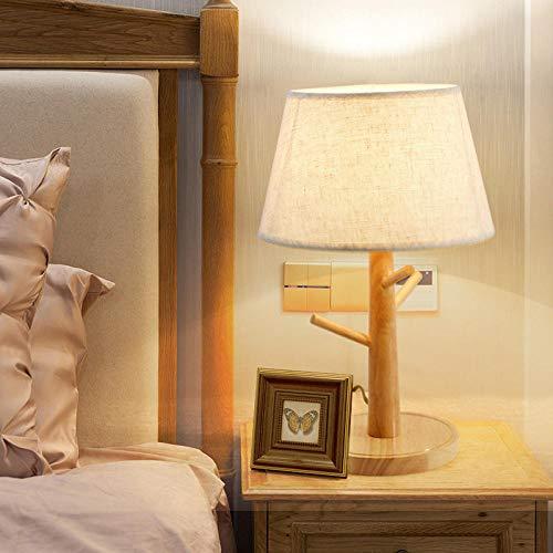 Mini mesita de noche Forest Lámpara de mesa, Lámpara de mesa de madera Lámpara de mesa de noche para dormitorio Sala de estar Oficina Hogar Ropa de cama Pantalla