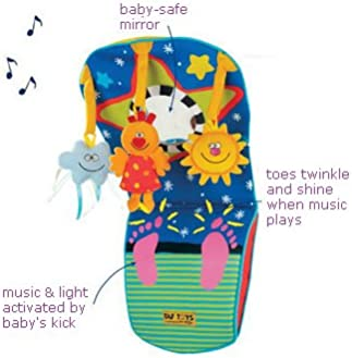 Taf Toys Toe Time Infant Car Seat Toy | Kick and Play Activity Center with Music, Lights, Mirror, and Jingling Toys |...