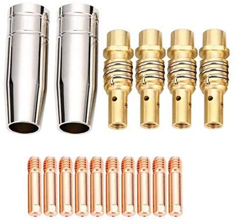 Kit de 16 boquillas 15AK para puntas de contacto MAG/MIG, accesorios para soldadura 15AK y...