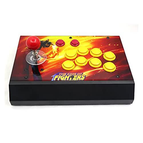 jiasHome DINGSONGYANG RAC-S300 Retro Arcade Game Console Joystick Fighting Stick Funda Metal Panel de Ilustraciones 64 g (Color : Artwork 1)