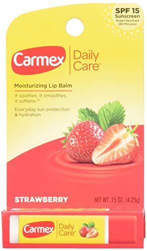 Carmex Lip Balm Stick, Strawberry, 3 Count
