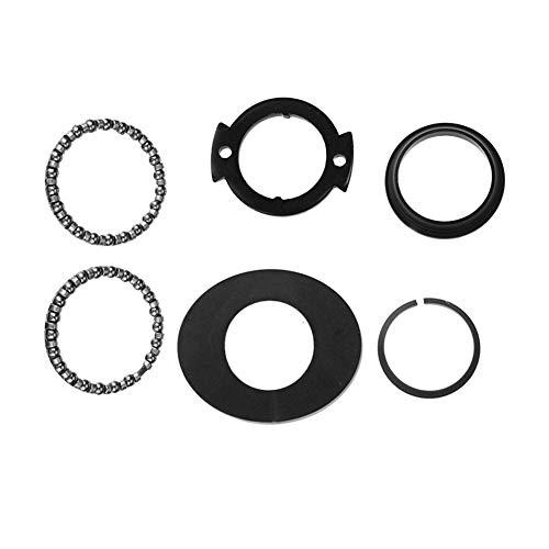 XIAOFANG Frente Tenedor Teniendo Tazón Piezas giratorias Polo de rotación Fit Kit for XIAOMI MIJIA M365 M187 Vespa (Color : Black)