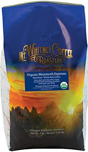 Mt. Whitney Mammoth Espresso, Organic Whole Bean Coffee - 5 lb bag