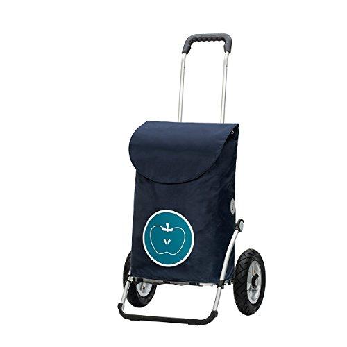 Andersen - Carro de compra Royal con bolsa Hava turquoise, volumen 49L, marco aluminio y ruedas neumaticás