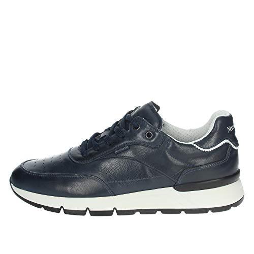 Nero Giardini E101992U Sauvage Blu Sneakers Sportive per Uomo in Pelle Blu Notte (Taglia 43)