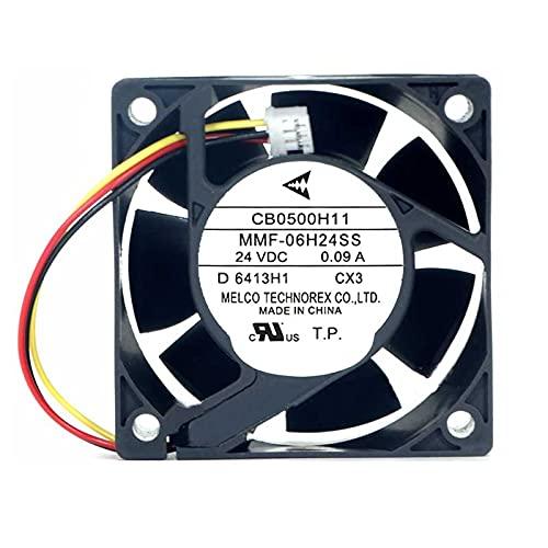 SCYHGLM CB0500H11 MMF-06H24SS-CX3 60x60x25mm Cooling Fan 24V 0.09A 3Wire 6cm
