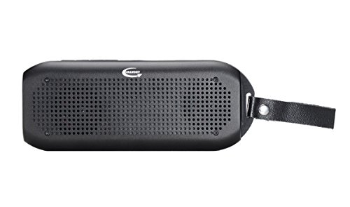GRANDEY NFC Wireless Bluetooth Shower Waterproof 2x5W Speaker(IPx7), Fully Submersible & Aluminium Alloy Portable Design Compatible with All Cell Phone & Bluetooth Devices with Built-in Mic (Black)