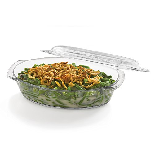 Libbey Baker's Basics Glass Oval Casserole Baking Dish