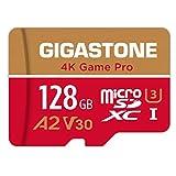 【5年保証 】Gigastone Micro SD Card 128GB A2 V30 マイクロSDカード UHS-I U3 Class 10 100MB/S 高速 micro sd カード Nintendo Switch 動作確認済 SD変換アダプタ付 adapter 4K Ultra HD 動画