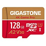 Gigastone 128GB Micro SD Card, 4K Game Pro, Nintendo-Switch Compatible, A2 Run App, 4K Video Recording, R/W up to 100/50MB/s, Micro SDXC UHS-I A2 V30 Class 10