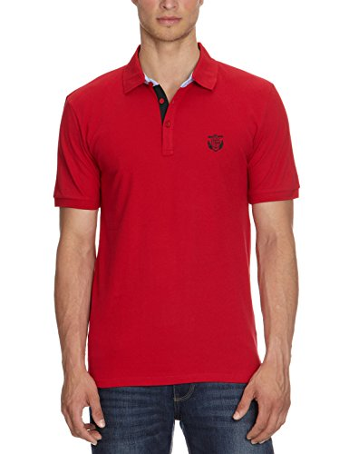 SELECTED HOMME Aro SS Embroidery Polo s Noos T, Hombre, True Red XL