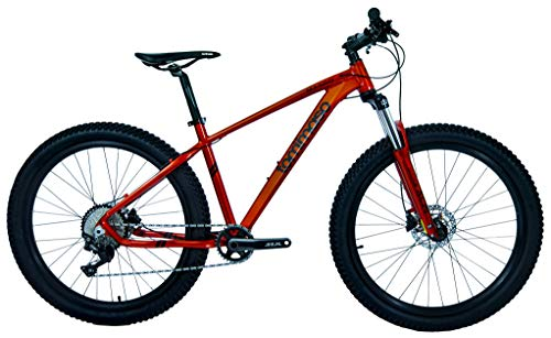 Tommaso Masso 27.5 Wide Tires Mountain Bike, Hydraulic Disc Hardtail, 1x10 Drivetrain, 100mm Travel Fork, Gloss Red - Small