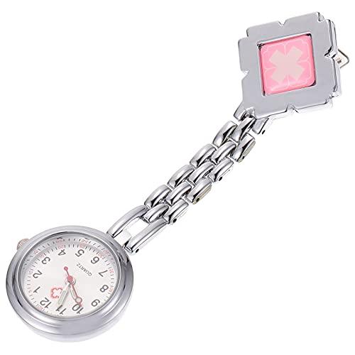 UKCOCO Enfermera Reloj de Cuarzo Reloj de Enfermería Fob Clip en El Reloj de Solapa Broche de Pecho Médico Reloj Portable Ocket Cierre Relojes Insignia para El Personal de La Clínica