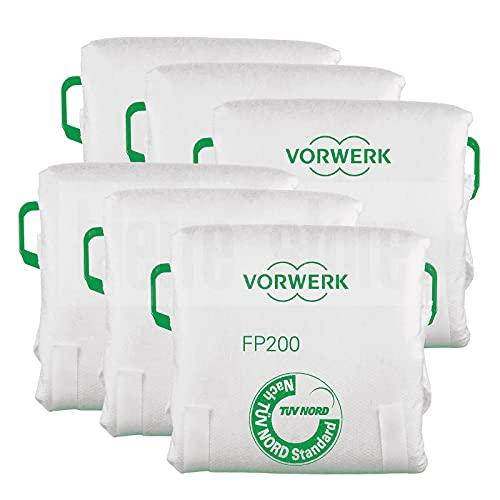 lavasciuga folletto vk200 Vorwerk Folletto K0354 Confezione 6 Sacchetti Originali Filtrello Premium FP200 per Folletto VK200/VK220 S