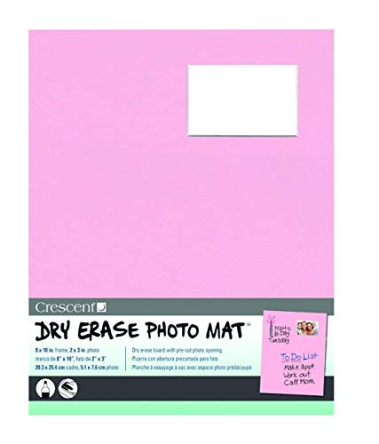 Crescent Creative Products Pink Dry Erase Photo Mat, 8