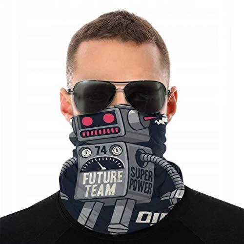 NVIKGRHF Headwear Disfraz tecnológico Sense Robot para hombre, diadema antipolvo, multifuncional, para festivales de música/Raves/equitación/al aire libre/deportes