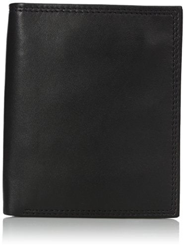Buxton Men's Emblem Credit Card Folio, Black, One Size