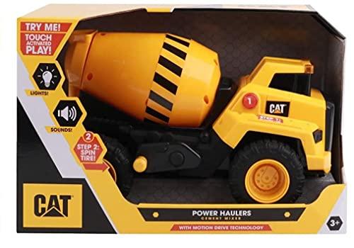 Cat Construction Power Haulers Cement Mixer, Yellow