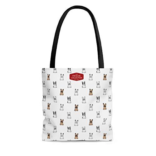Cute Frenchie Tote Bags Reusable Grocery Shopping Handbag for Beach Wedding Birthday