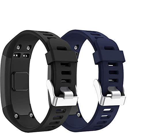 SUPORE Garmin Vivosmart HR Activity Tracker Correa de Reloj de Repuesto, Accesorios Correa de Reloj de Silicona Suave Ajustable Reemplazo diseñado para Garmin Vivosmart HR Smart Sport Reloj