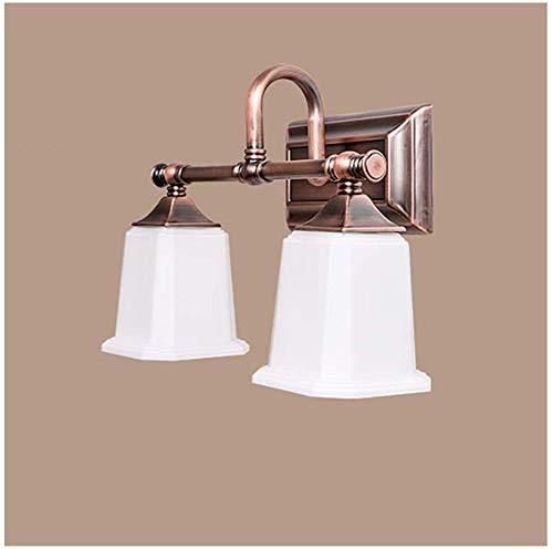 Carl Artbay Shuai Beautiful lamp / * LED-badkamerspiegel cosmeticatafel spiegelkast licht 2/3 hoofd glazen lampenkap (grootte: 55cm / 3 geleiders)