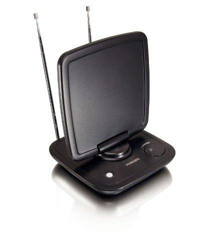 Philips SDV 6120 Aktive DVB-T Zimmerantenne (39 dB, Rauschunterdrückung) schwarz