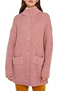 edc by ESPRIT Damen 119CC1I006 Strickjacke, Rosa (Old Pink 5 684), Medium (Herstellergröße: M)
