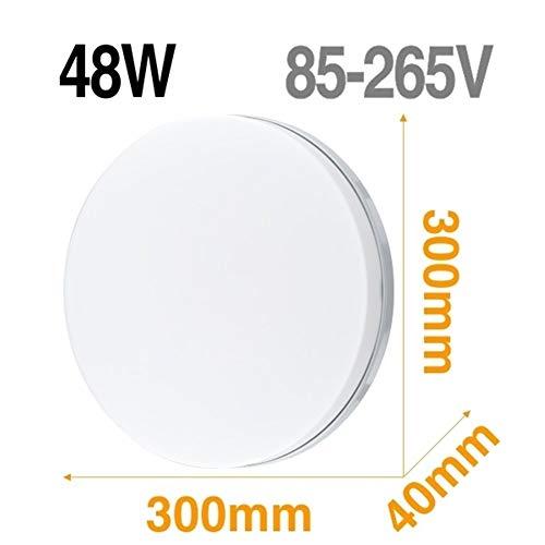 Lámpara de techo LED Panel de luz LED 48W 36W 24W 18W 13W 9W 6W abajo luz Montado en Superficie moderna lámpara de iluminación for el hogar Decoración (Body Color : Model B 48W)