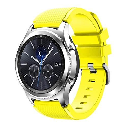 Scpink Gear S3 Frontier/Reloj clásico, Correa Deportiva de reemplazo de Silicona Suave para Samsung Gear S3 Frontier / S3 Classic