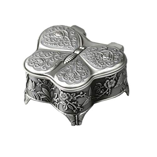 D- Creative handicrafts, simple and cute embossed gift music box, used for birthday, music box, metal music box