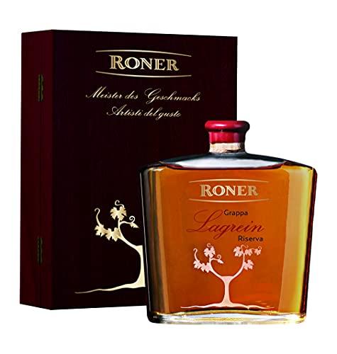 Roner Roner Grappa Di Pura Vinaccia Lagrein Riserva (1X 0,7L) In Cassetta Di Legno Distilleria Artigianale Alto Adige Südtirol Piu Premiata D'Italia - 700 ml