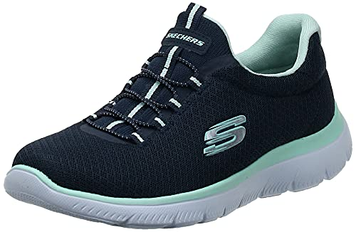 Skechers Summits, Zapatillas Mujer, Azul Navy Aqua, 38 EU