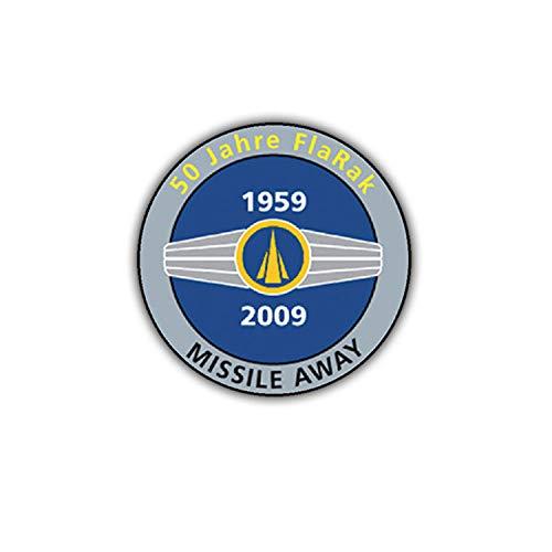 Sticker Autocollant – 50 ans flarak Bundeswehr VOL missiles aviateur 7 x 7 cm # A1858