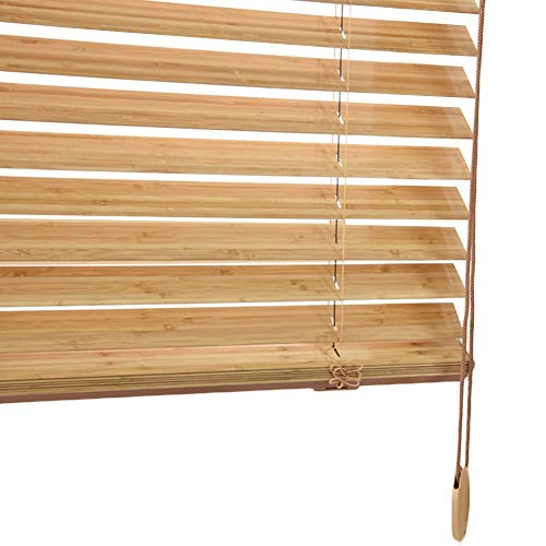 WENZHE Estores de Madera Persianas Enrollables Venecianas Cortinas Casa Balcón Bambú Sombrilla Levantamiento - Cuchilla 35mm / 50mm - Talla Personalizable (Color : 50mm, Size : 50x100cm)