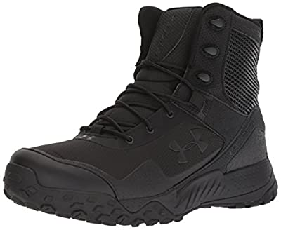 Under Armour Men's Valsetz RTS 1.5 Side Zip Military and Tactical Boot, Black (001)/Black, 9.5