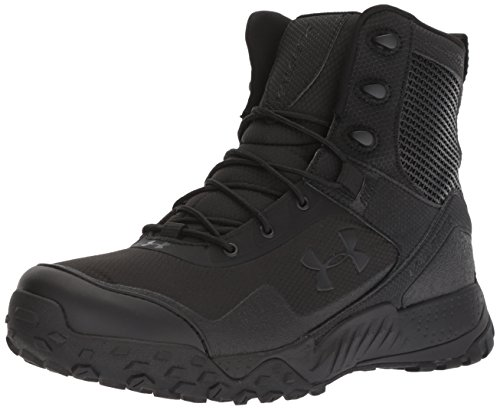 Under Armour Men's Valsetz RTS 1.5 Side Zip Military and Tactical Boot, Black (001)/Black, 10