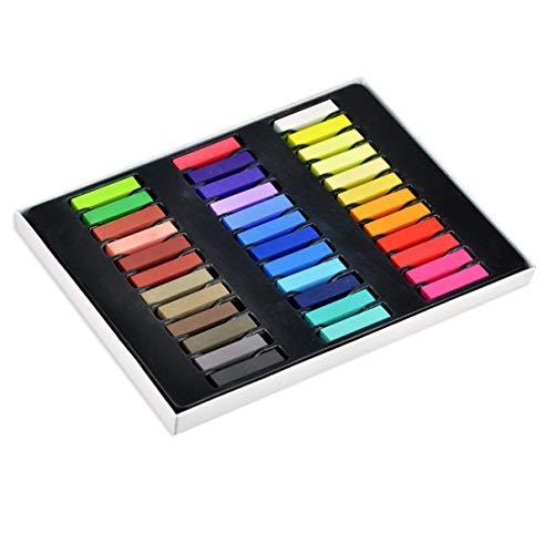 Beaupretty 36 Farben Haar Kreide Stifte Temporäre DIY Haar Pastell Farbstoff Kit Geschenk für Kinder Mädchen Party Geburtstag Weihnachten