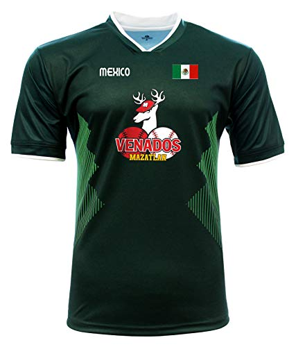 Jersey Mexico Venados de Mazatlan 100% Polyester_Made in Mexico (Large) Green