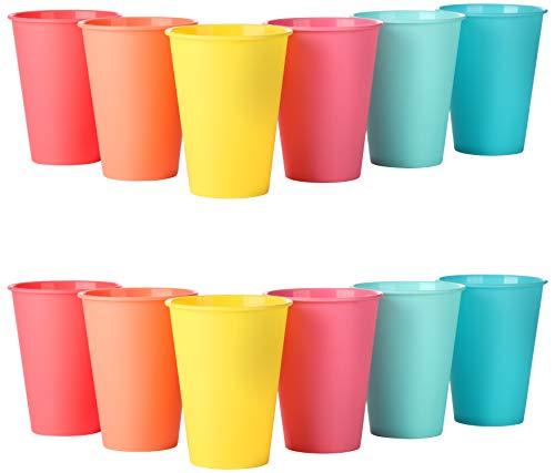 com-four® 12x Cup Set El Accesorio para Picnic, arnés de Camping, arnés de Viaje, Ahorro de Espacio e higiene para 12 Personas. (Tazas - 12 Piezas) ⭐