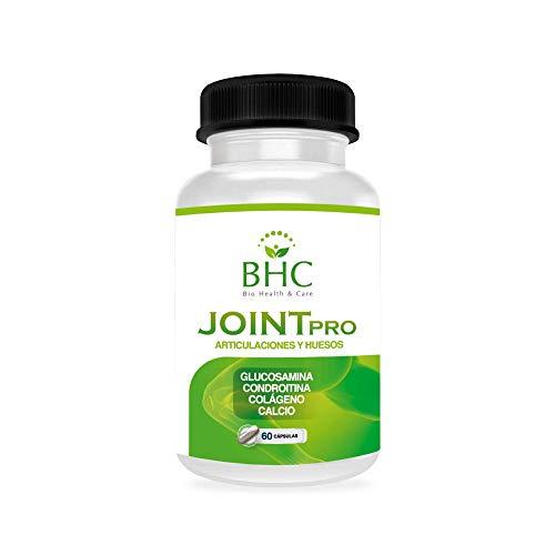 Glucosamina + Condroitina + Colágeno + Calcio | Protege y repara daños en articulaciones y músculos | Potente Antiinflamatorio y Analgésico Natural | Elimina dolores e inflamaciones | 60caps naturales