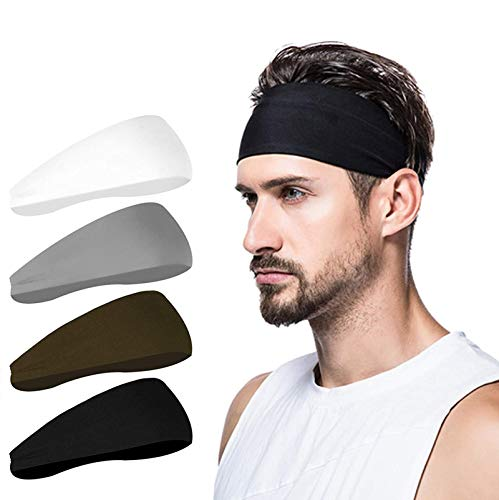 poshei Mens Headband (4 Pack), M...