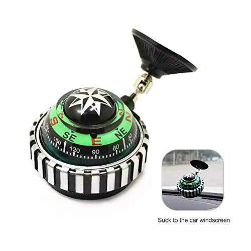 Compass for Car Suction Cup Adjustable Seat Suction Liquid Ball Jeep Compass Dual Usage Nautical Compass Ball,Car Compass Floating Ball Magnetic with Sucker-Military Boat Marine Navigation