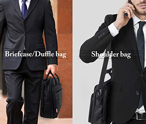 17 inch Laptop Bag, Travel Briefcase with Organizer - Best Briefcases For Men