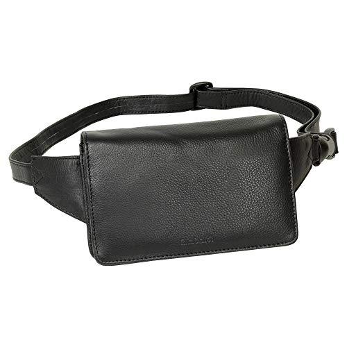 Leder Gürteltasche Bauchtasche Hüfttasche Voll-Leder Ausstattung schwarz