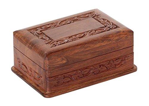 Trick-Kiste geschnitzt mit Geheimnis von Einkaufszauber (Ohne Erklärung)