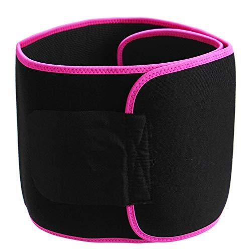 Cinturón De Entrenador De Cintura Deportes Fitness Body Shaping Cinturón De Cintura Presión Elástica Esfuerzo De Cintura Soporte - Rojo Para Entrenamiento Físico Unisex (Size:L; Color:Rose Red)