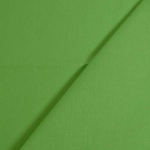 designers-factory Tessuto di Cotone al Metro - Disponibile in Diversi Colori - Stoffe di Cotone Tinta Unita – Stoffa al Metro 100% Cotone - Tessuto in Popeline per Cucire (1m x 1m46, Verde)
