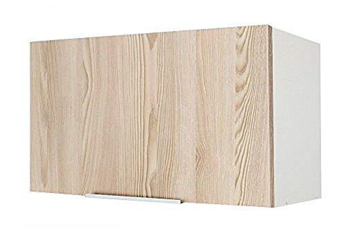 Berlioz créations Caisson-Alto de Cocina para Campana extractora 60, aglomerado, Fresno Arenado, 60 x 34 x 35 cm